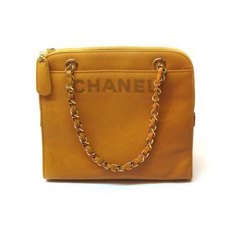 Vintage Bag chanel vintage logo leather bag the great closet