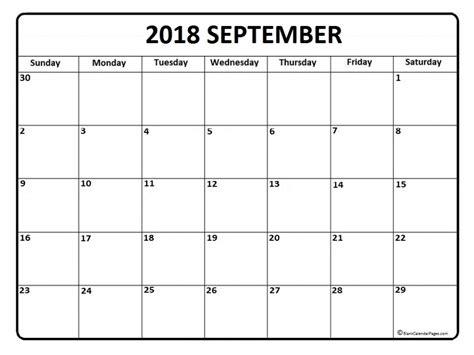 printable calendar sept 2018 2018 printable calendar by month september 2018 2018