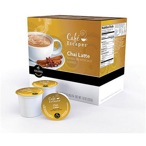 Keurig K Cups, Cafe Escape Chai Latte, 16ct   Walmart.com