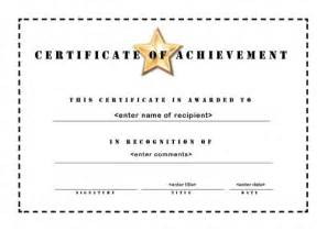 free templates for certificates of achievement http