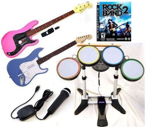 Sony Ps3 Rock Of The Bead rock band ps3 bundle ebay