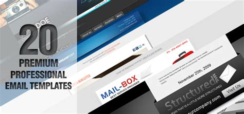 20 professional premium email newsletter templates