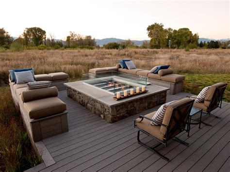 Gas Firepit For Deck Photos Hgtv