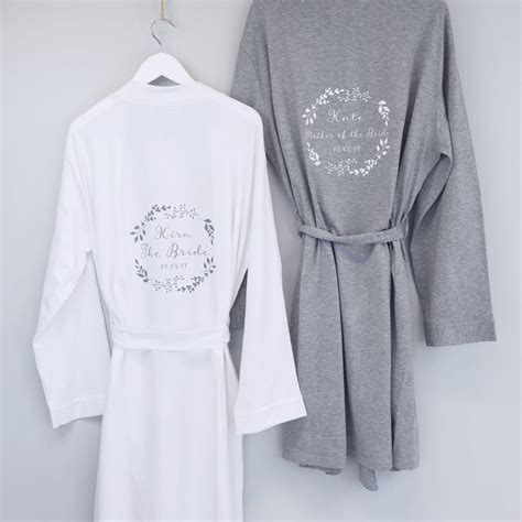 Wedding Dressing Gowns by Botanical Wedding Dressing Gown