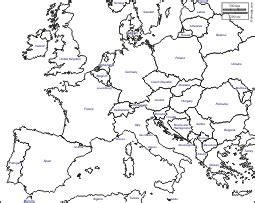 europe outline map with country names western and central europe free maps free blank maps