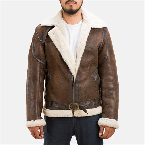 Shearling Jacket mens forest shearling jacket