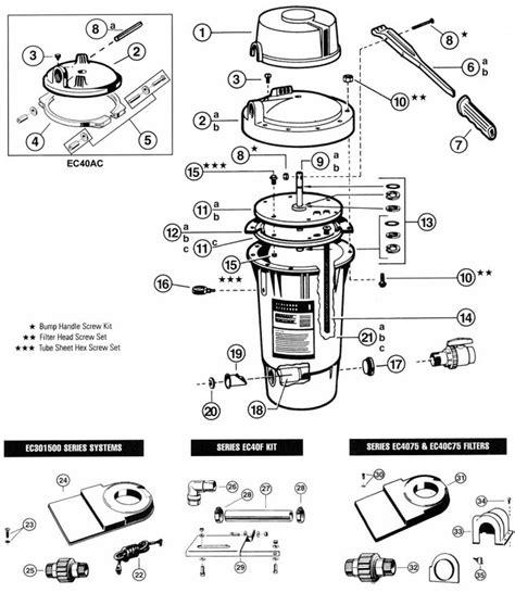 hayward pool light parts hayward perflex ec40 replacement parts