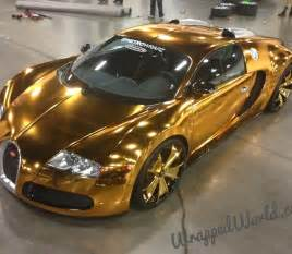 Bugatti Gold Price Bugatti Veyron Gold Wrapped For Us Rapper Flo Rida