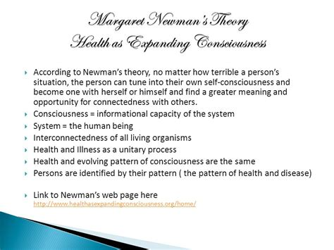 gallagher pattern theory of self margaret newman s theory of health as expanding