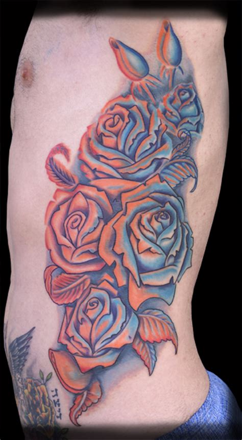 orange roses tattoo jeff johnson tattoos custom roses