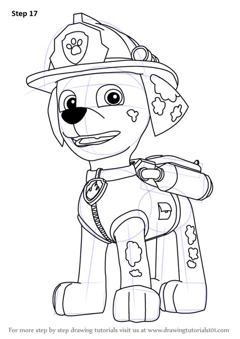 learn how to draw paw patrol badge paw patrol step by step drawing learn how to draw marshall from paw patrol paw patrol