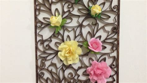 how to make wall decoration at home how to make a beautiful paper wall decoration diy home