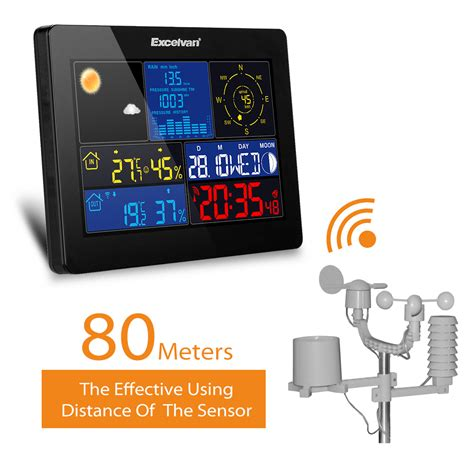 color wireless weather station w wind speed