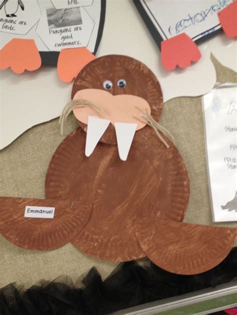 walrus paper plate craft paper plate walrus crafts plates
