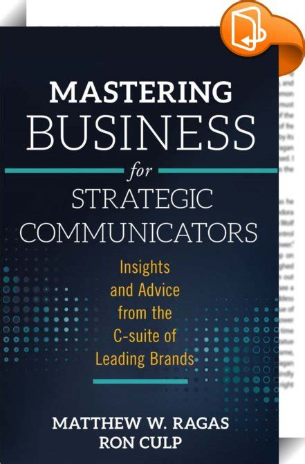 mastering business for strategic communicators matthew w