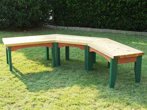 build a wooden bench how to build a semi circular wooden bench how tos diy