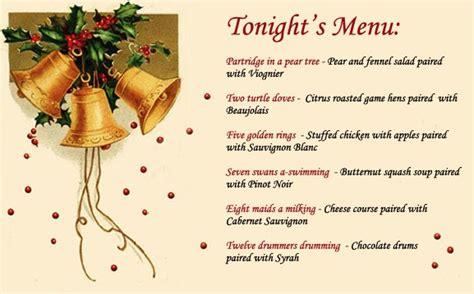 menu for dinner for 20 emilystyle december 2005