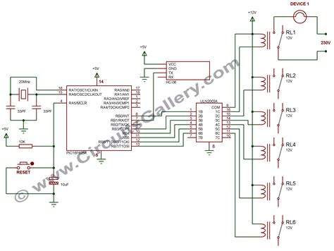 schematic drawing app android app home automation via bluetooth using pic16f628a
