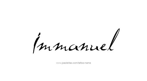 immanuel name tattoo designs