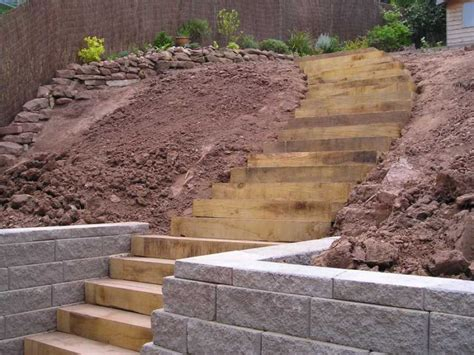 How To Build Steps With Railway Sleepers by Railway Sleepers