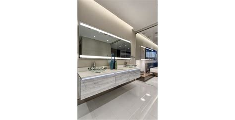 robern lighted mirror robern debuts new custom lighted mirror collection
