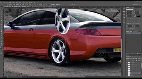 peugeot 407 coupe tuning peugeot 407 coupe virtual tuning photoshop youtube