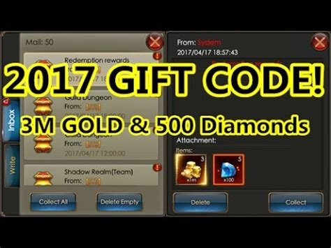 pubg gift codes 2017 december legacy of discord 2017 4 17 newest free gift code youtube