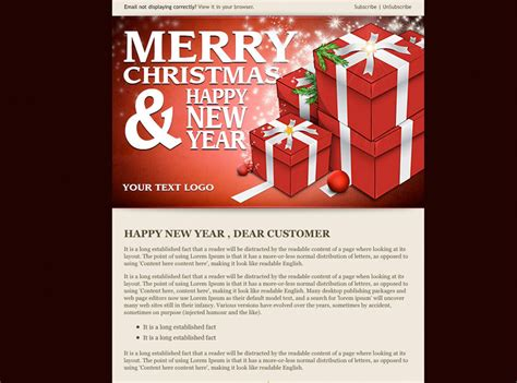 20 wonderful christmas new year email templates web