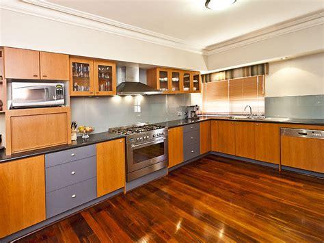modern l shaped kitchens modern l shaped kitchen design using hardwood kitchen