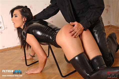 Bailey Spanked N' Fucked In Latex On A fetish Fantasy sex Stool fetish Sex Blog