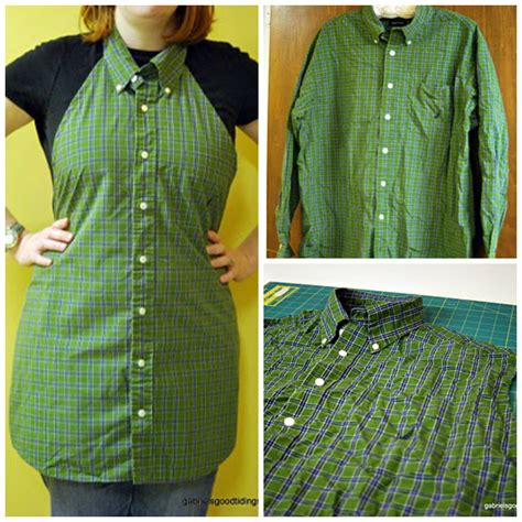 pattern for apron made from dress shirt you see men s dress shirt we see apron
