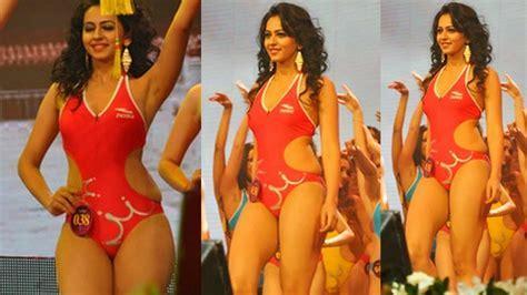 Rakul Preet Singh In Red Bikini Youtube