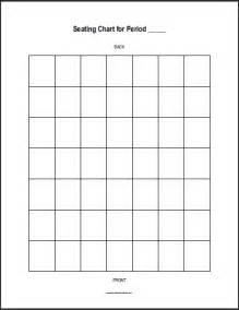 free printable vertical classroom seating chart for one class