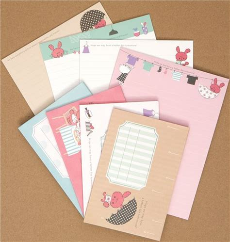Set Import Bunny chou fleur bunny letter set from japan letter sets