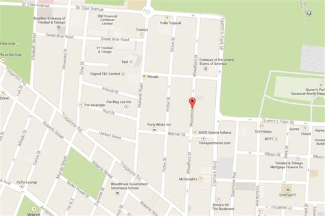 map of port of spain streets location