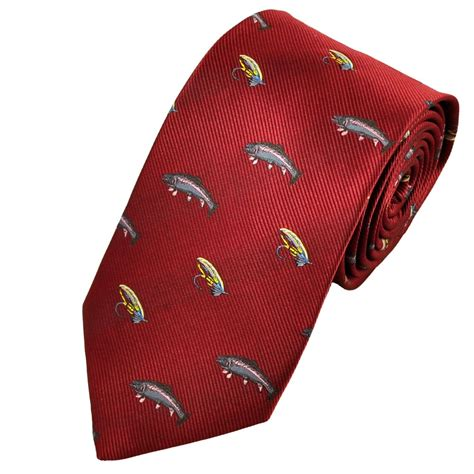 fly fishing country tie from ties planet uk