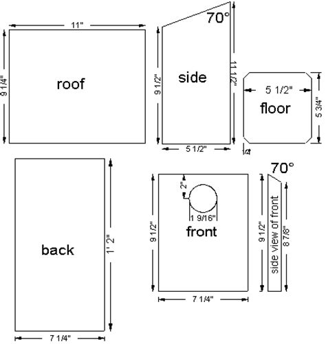 eastern bluebird house plans for ventalation as shown