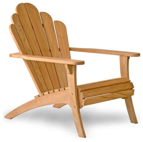 Modern Adirondack Chairs by Bainbridge Collection Teak Adirondack Chair