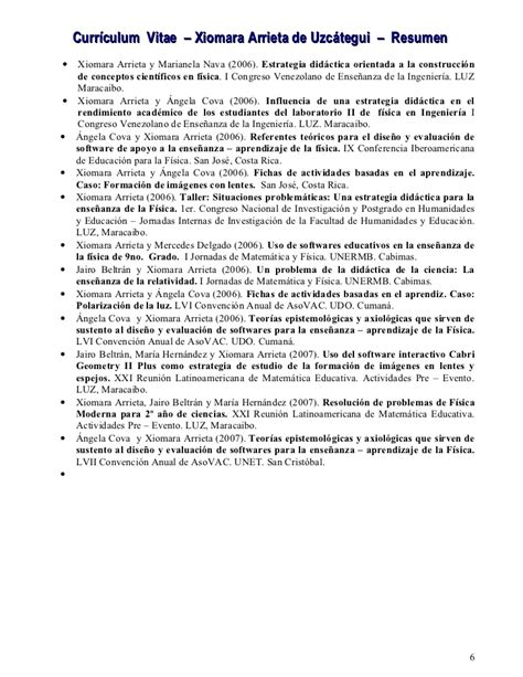 mara resume curriculum xiomara resumen 2007