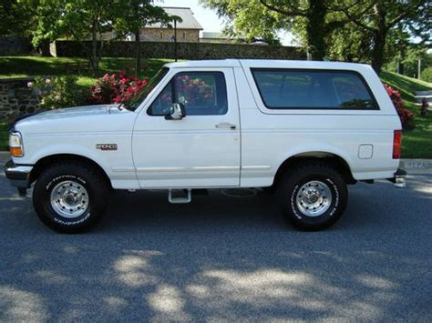 how cars engines work 1996 ford bronco electronic valve timing buy used 1996 ford bronco xlt 4x4 police package in catonsville maryland united states