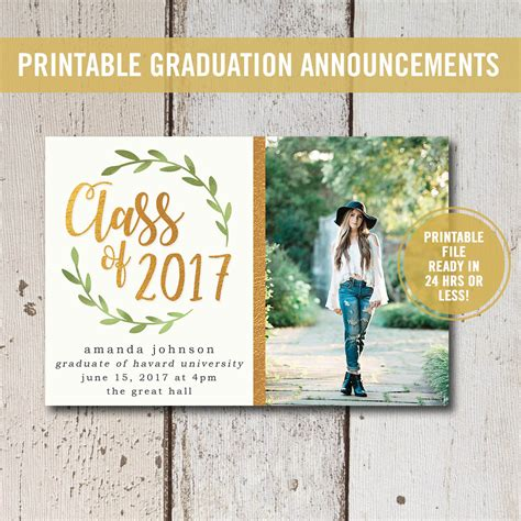 templates for high school graduation announcements college graduation invitation printable high school