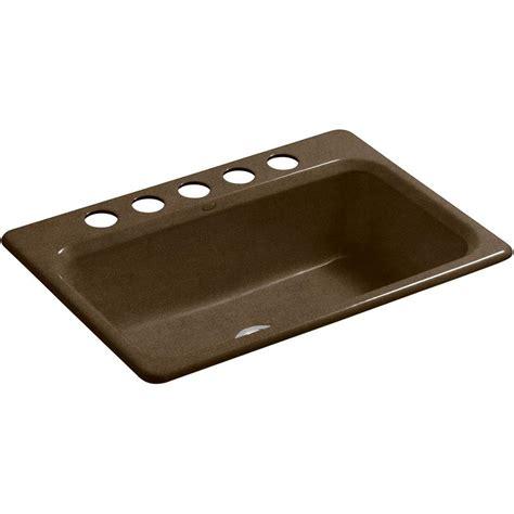 Single Bowl Cast Iron Kitchen Sink Kohler Bakersfield Drop In Cast Iron 31 In 4 Single Bowl Kitchen Sink In White K 5832 4 0