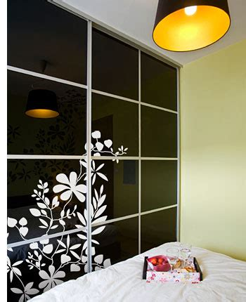 Decorated Wardrobes - how to decorate wardrobe doors with paint wallpaper or fabric