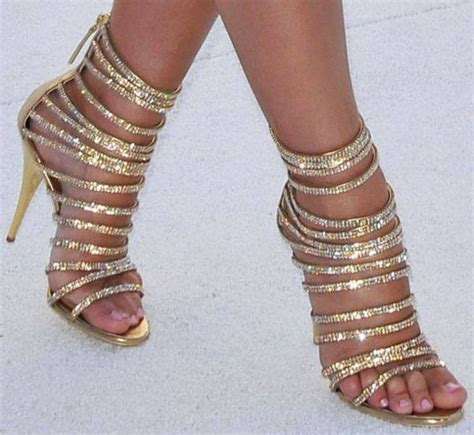 high heels with jewels shoes jewels nail nails gold sparcle high