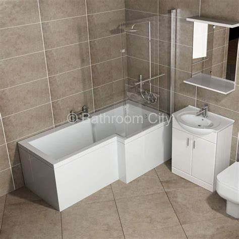 in bath shower l shape shower bath right handed buy at bathroom city