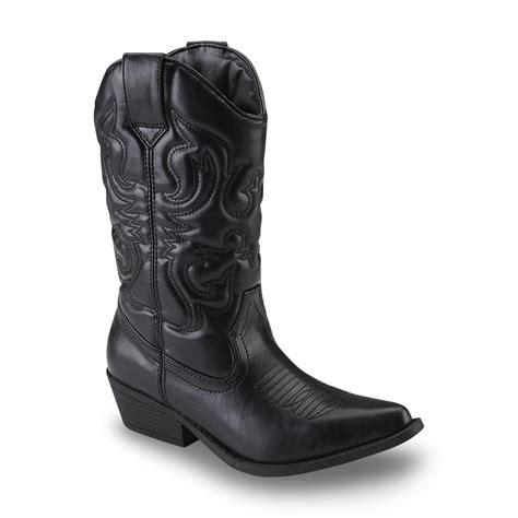 sm new york s lasso black cowboy boot shop your