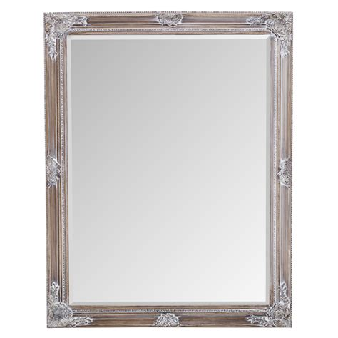 The Mirror by Vintage White Ornate Mirror
