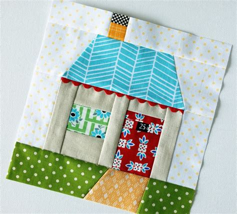 house pattern blocks paper pieced house flickr photo sharing