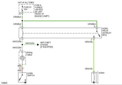 nissan horn wiring diagram nissan free wiring diagrams