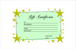 Company Gift Certificate Template by 9 Gift Certificate Templates Free Sle